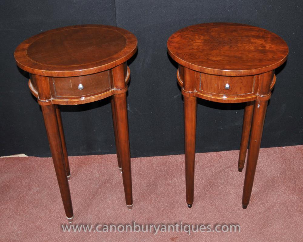 Pair Regency Beistelltische in Mahagoni-Tisch Möbel