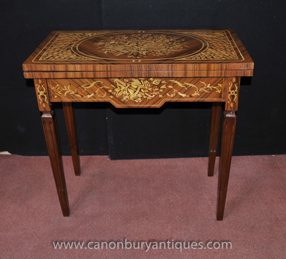Regency Spiele Schach Tabelle Intarsien Console Tische Möbel