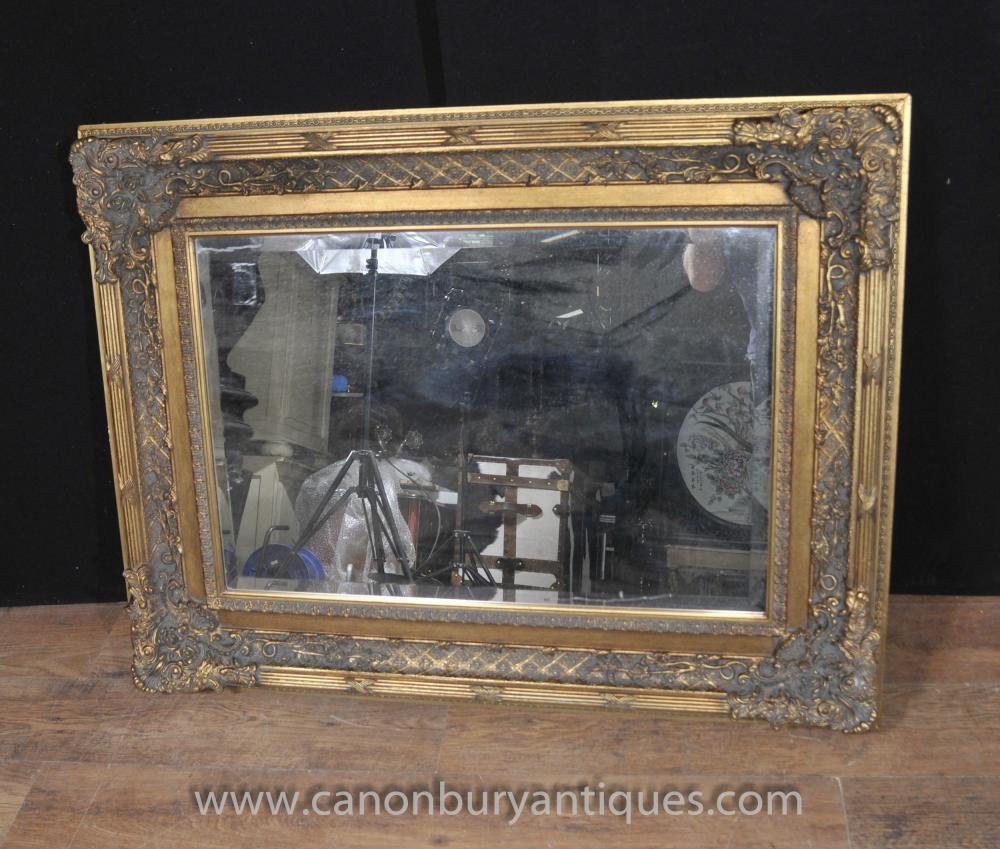 Victorian Gilt Mantel Spiegelglas Spiegel
