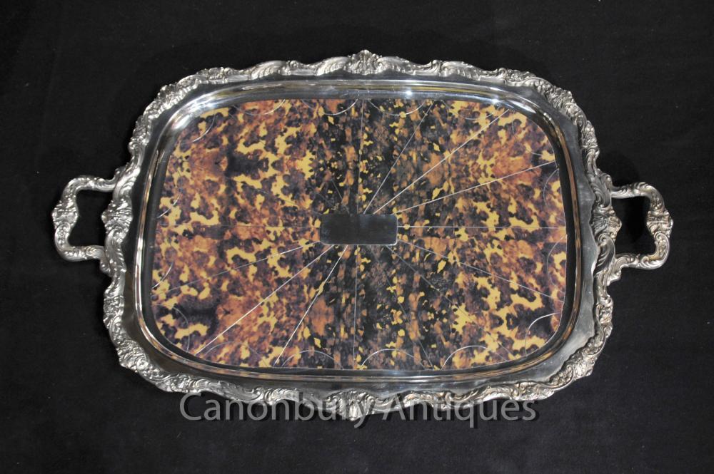 Victorian silberne Platten-Tray Gadroon Butlers Platter Tort