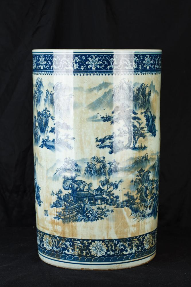 lau i blanc xinès Nanking Porcellana Paraigüer urna gerro