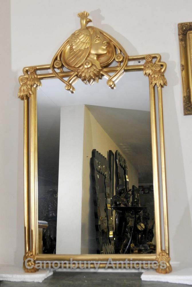 Französisch Jugendstil Gilt Pier Spiegelglas Spiegel
