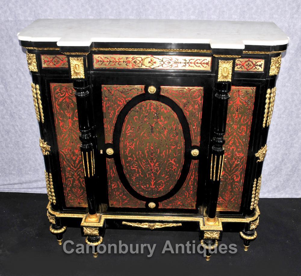 Französisch Louis XVI Boulle Cabinet Anrichte Anrichte Buhl Inlay