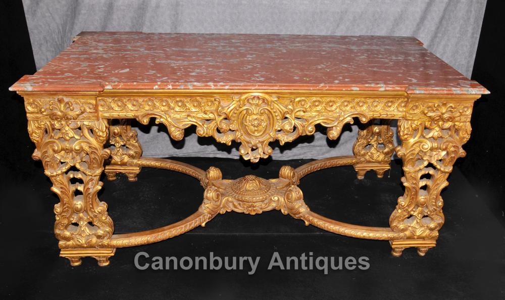 Italiaanse Rococo Antieke Giltwood Console Table Hall Tabelle