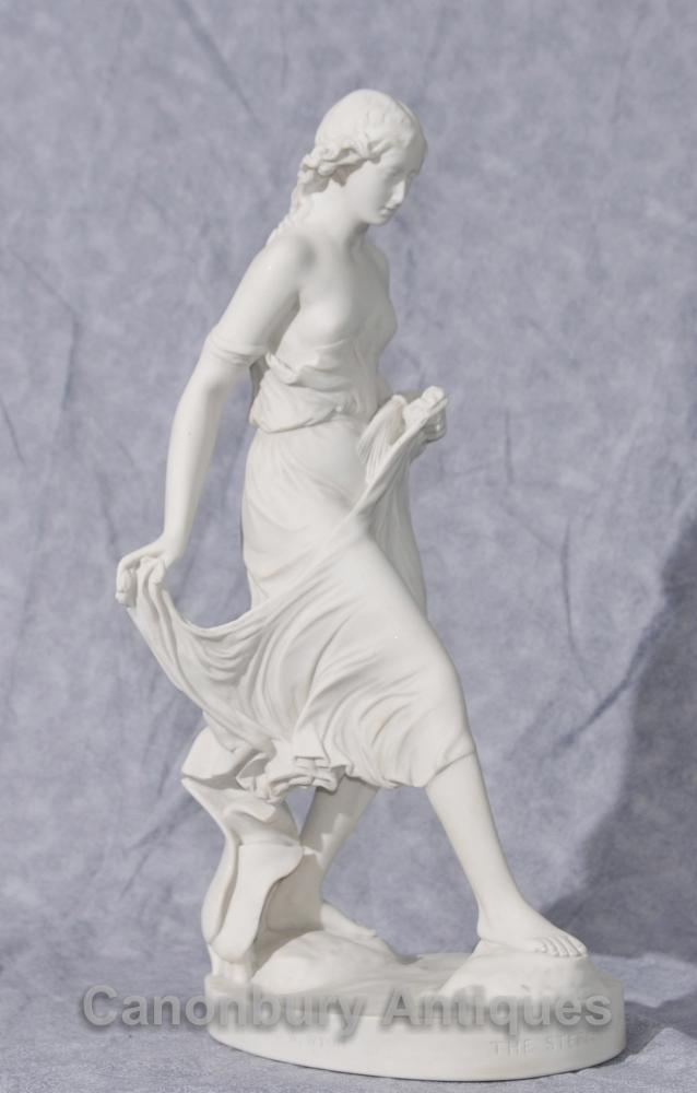 Klassische italienische Stein Stepping Stone Maiden Statue Kunst