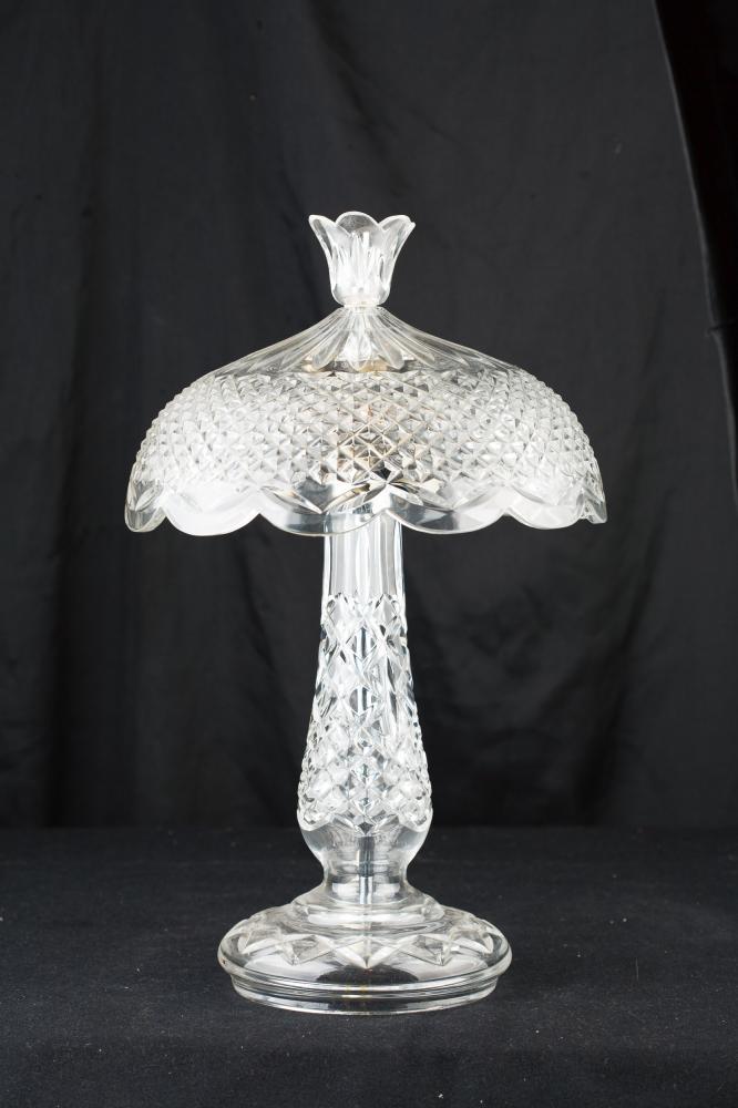 Kristallglasschliff Französisch Jugendstil Tischlampe Licht