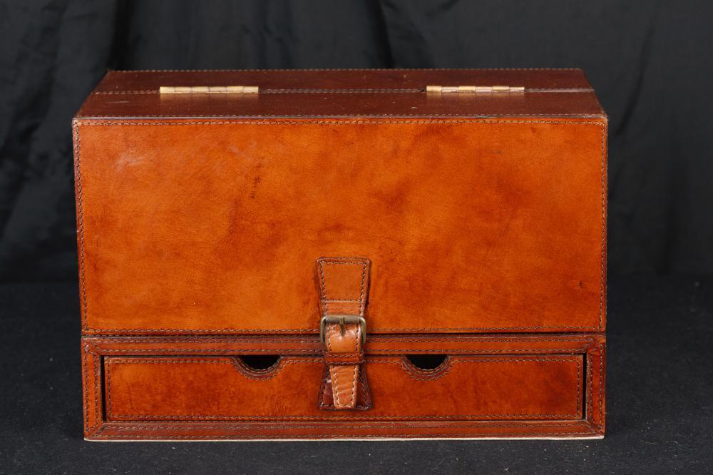 Leather Bound Box Schreiben Schreibtisch-Briefpapier-Satz-Kampagne Dampfer-Stamm