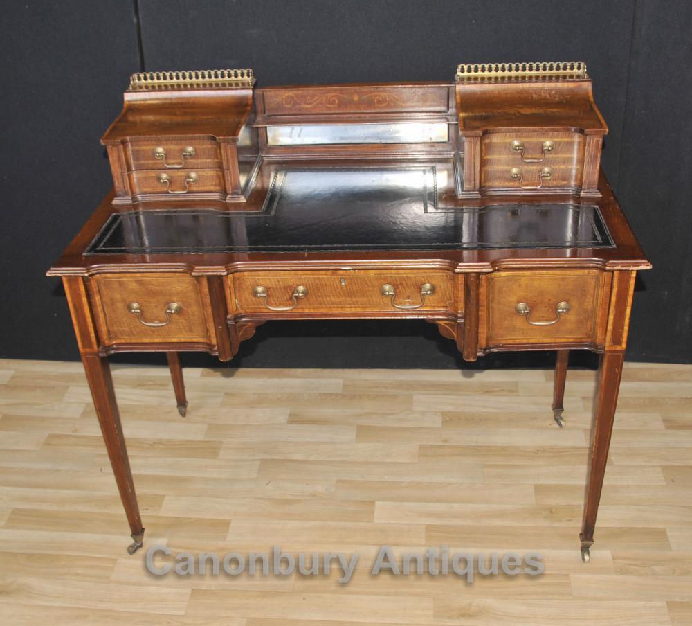 Antique Edwardian Carlton House Schreibtisch Tabelle 1910