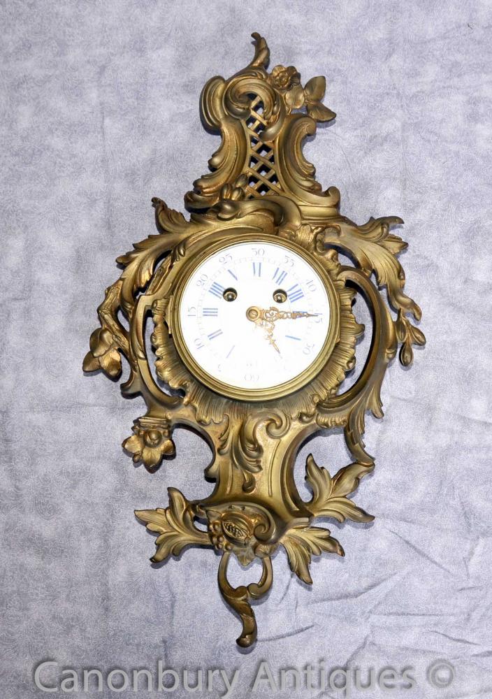 Antique Louis XVI Ormolu Rokoko Wanduhr Französisch Uhren