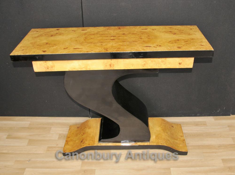 Art-Deco-Hall-Tabelle Z geformte Konsole Tische Design Einrichtungs