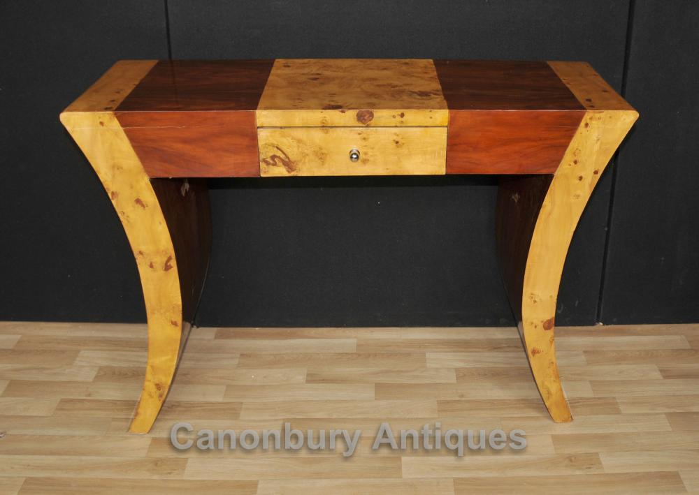 Art Deco Konsolentisch Nussbaum Palisander 1920er Tische