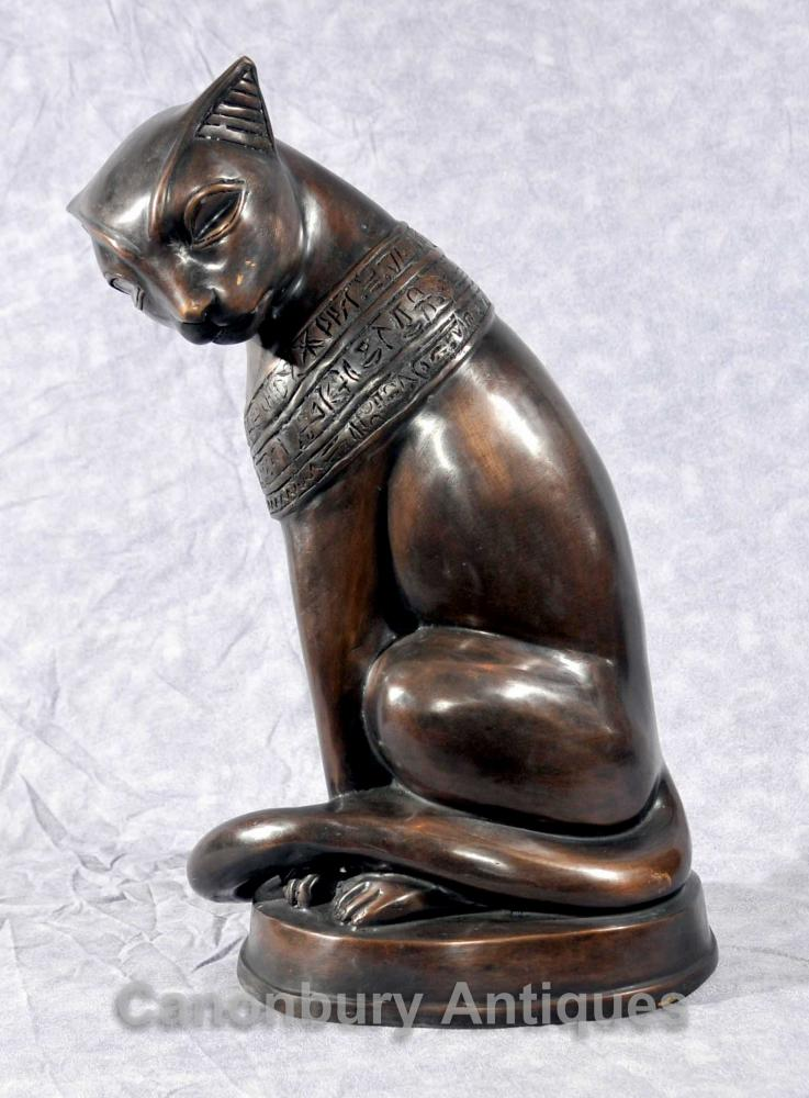 Bronze Ägyptische Katze-Statue Feline Felus Casting Ägypten Katzen