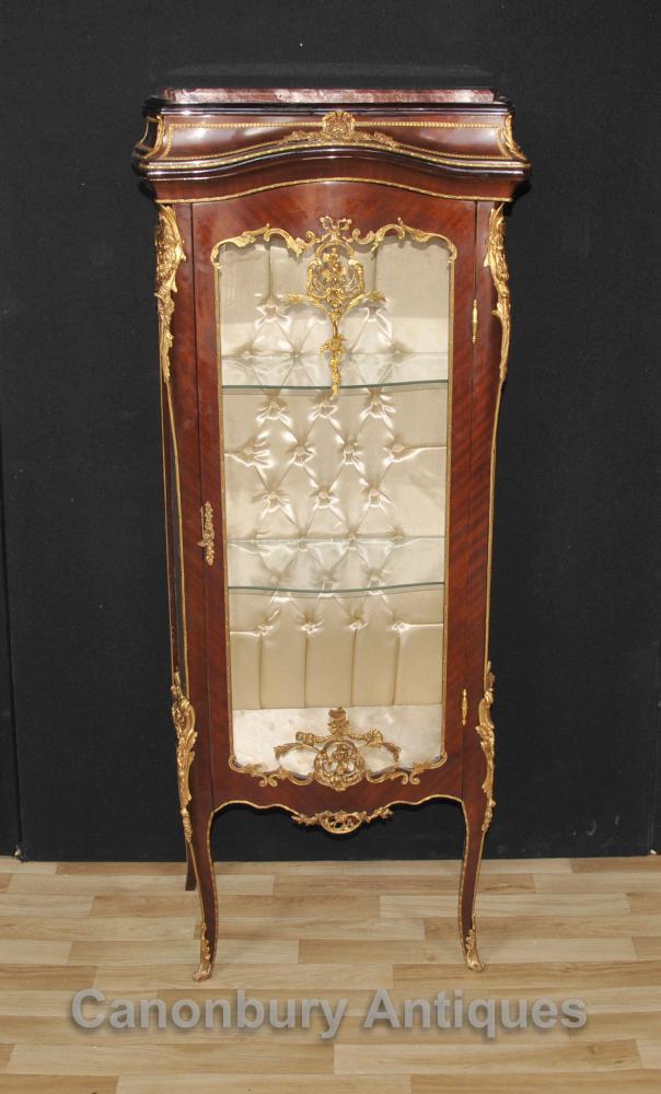 Französisch Louis XVI Glasvitrine Bijouterie Schmuck