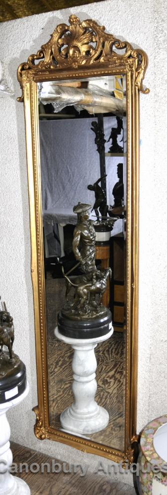 Französisch Louis XVI Hoch Großer Spiegel Gilt Frame