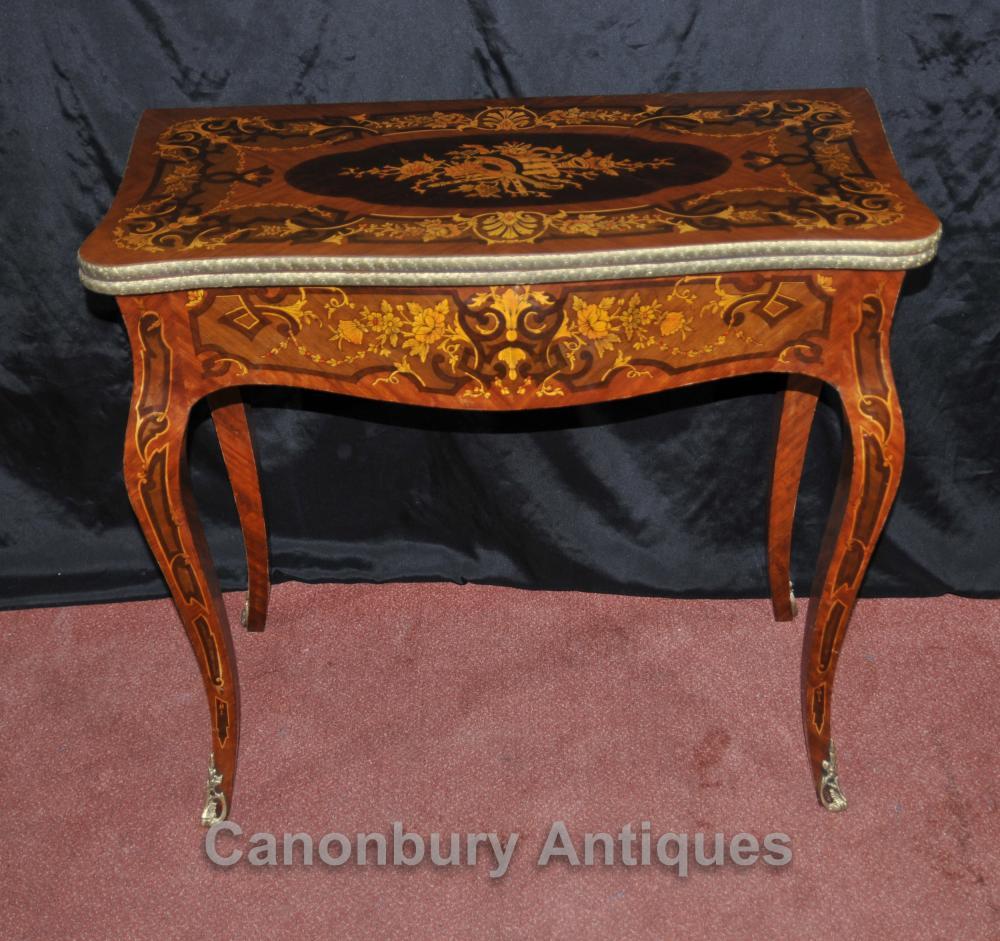 Französisch Louis XVI Konsolen-Spiele Tabelle Schachbrett Inlay