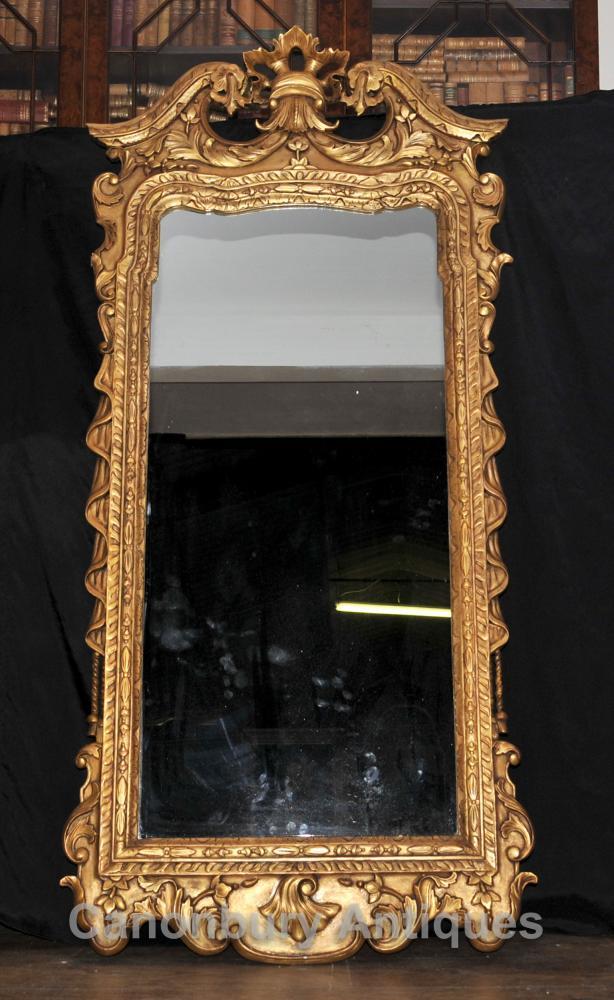 George II Vergoldete Pier Spiegelglas Spiegel Interiors