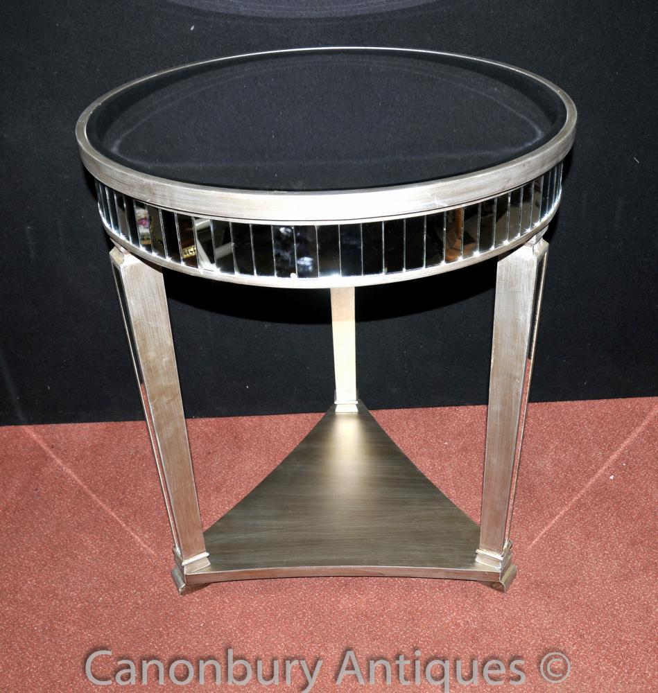 Große Art Deco Gespiegelte Beistelltisch Stehtische Möbel