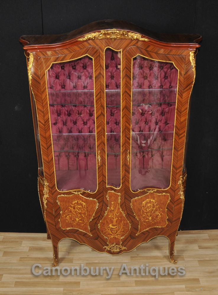 Louis XVI Vitrine Bijouterie Französisch Inlay Möbel