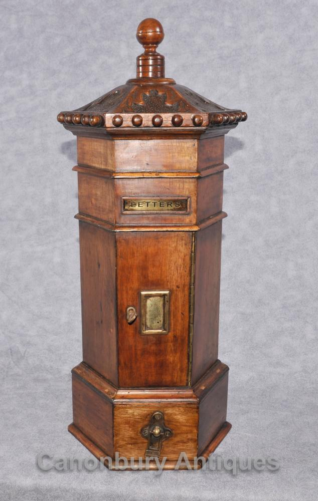 Mahagoni Englisch Post Box Cabinet Letterbox Eastern