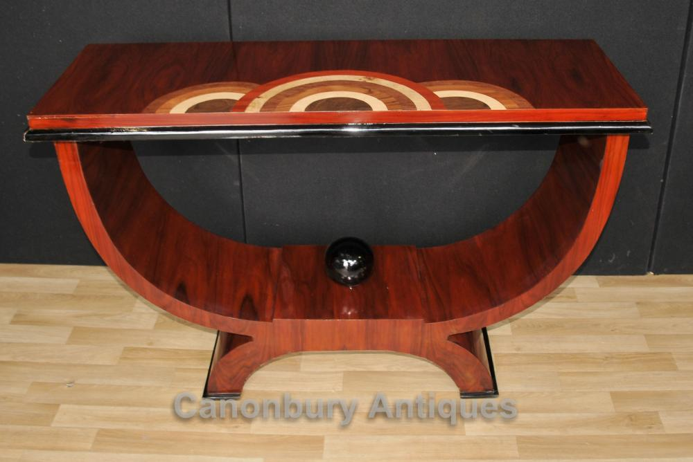 Palisander Art Deco Kaffeekonsolentisch 1920er Jahren Möbel Halle Tische