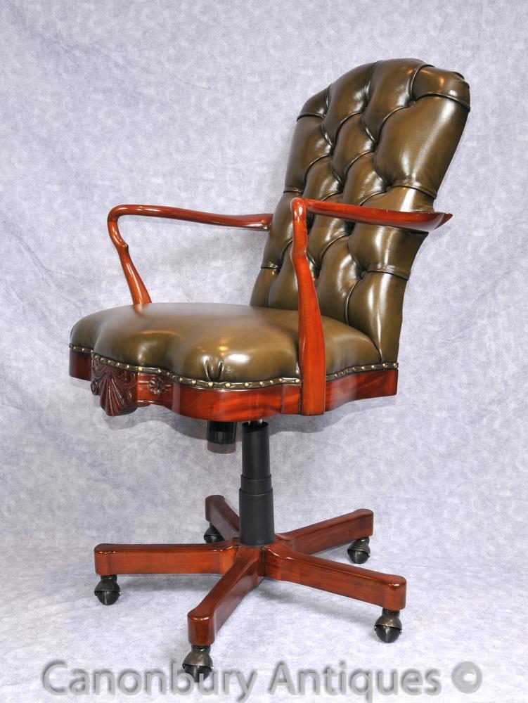 Regency Swivel Schreibtisch Sessel Bürositzmöbel Gains