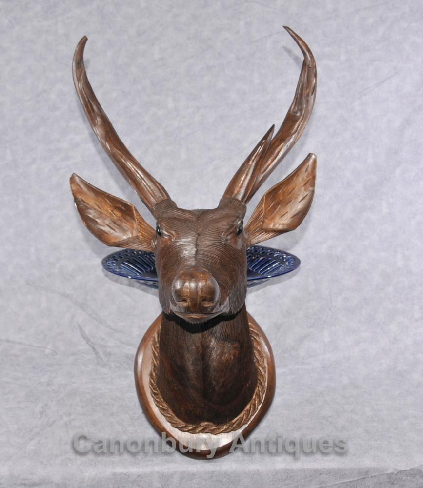 Scottish Hand geschnitzte Hirsch Büste Hunting Lodge Highlands Deer Stags