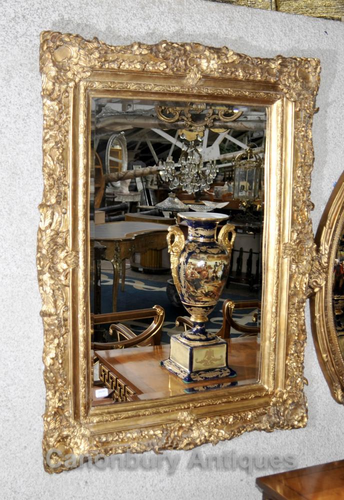 Victorian Gilts Mantel Spiegelglas Spiegel