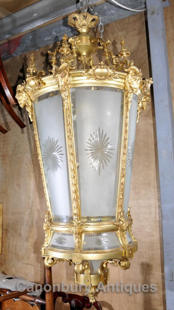 XL Französisch Reich Ormolu-Laterne-Licht Kronleuchter Interiors Beleuchtung