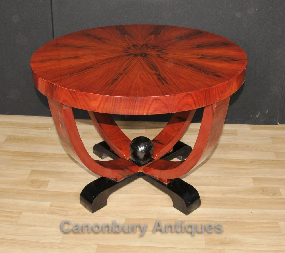 Art Deco Round Beistelltisch Palisander Couchtische Vintage-Möbel