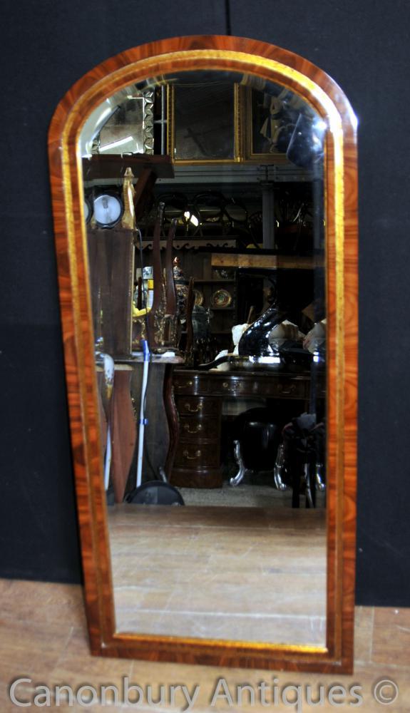 Englisch Regency Pier Vergoldete Spiegel Hoch Mahagoni Dressing Spiegel