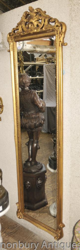 Französisch Reich Hohe Halle Spiegel Vergoldete Spiegel Glas