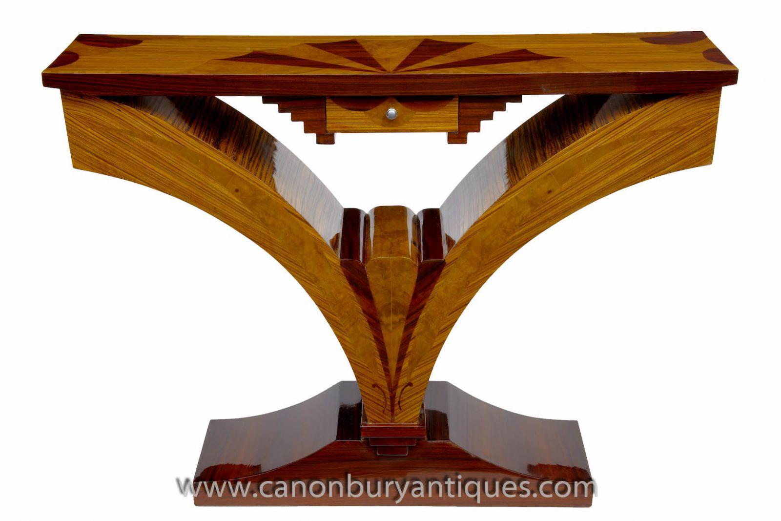 Art Deco Konsole Tische