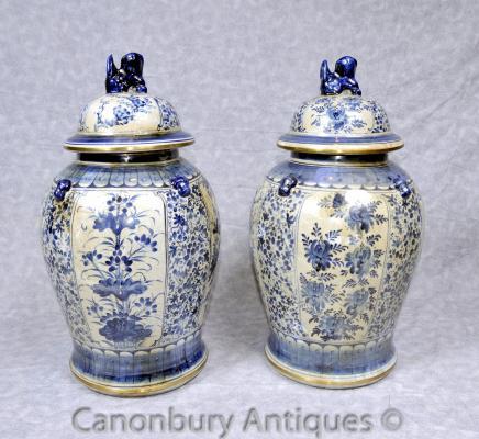 Blaue und weiße Porzellan