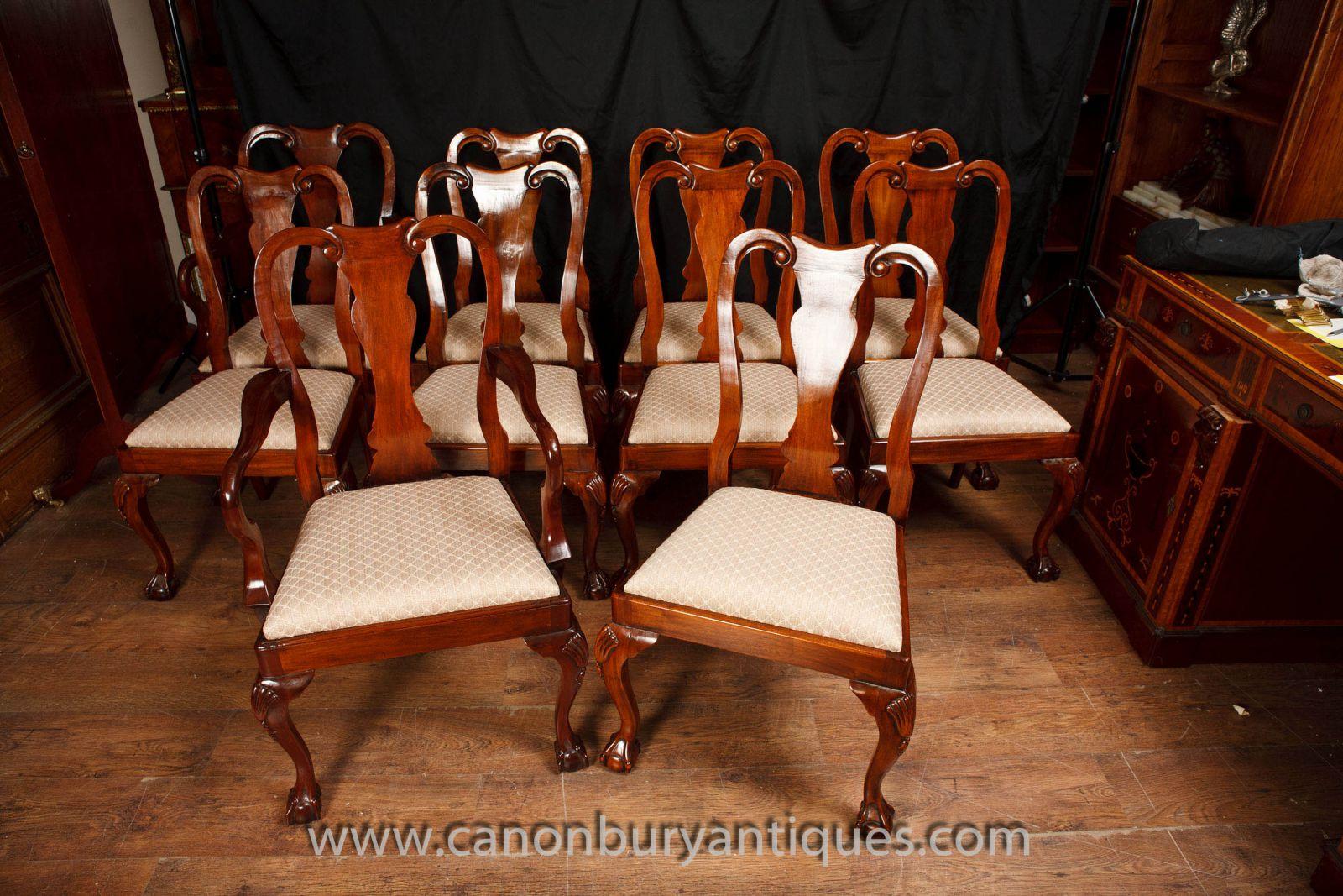 Queen Anne Esszimmerstühle