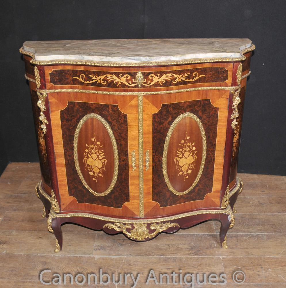 Antike Louis XVI Kabinett Chest Credenza Intarsien