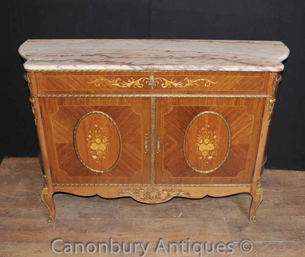 Antique Französisch Reich Kabinett Anrichte Anrichte Intarsien Möbel