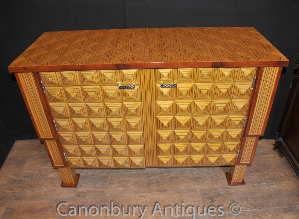 Art Deco Cubist Cabinet Chest Sideboard Cupboard