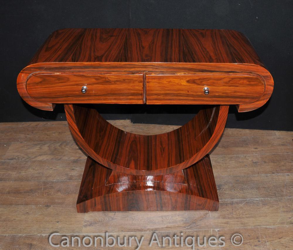 Art Deco Konsolentisch Palisander Halle Tische