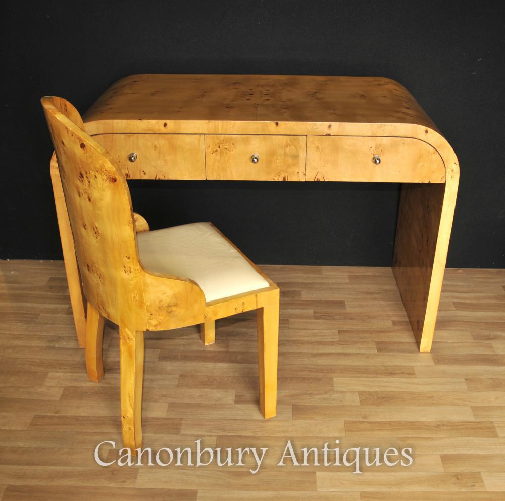 Art Deco Schreibtisch und Stuhl Set Schreibtisch Home Office 1920