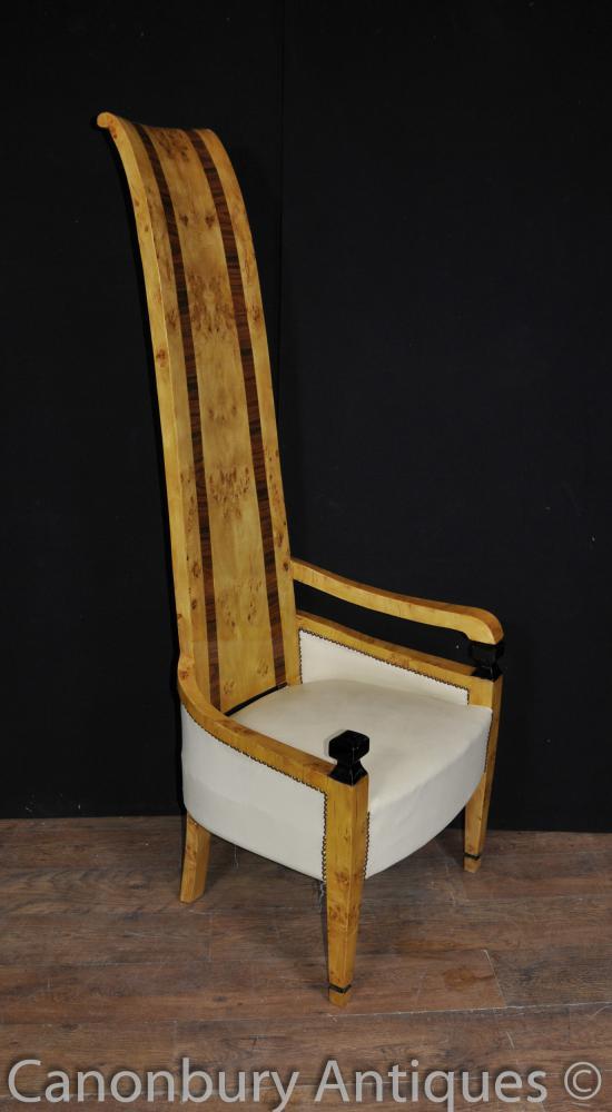 Art Deco mit hoher Rückenlehne Sitzclubsessel