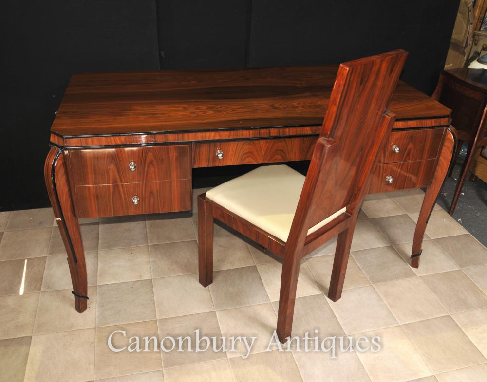 Art Deco Schreibtisch Stuhl Set Palisander Schreibtisch Home Office