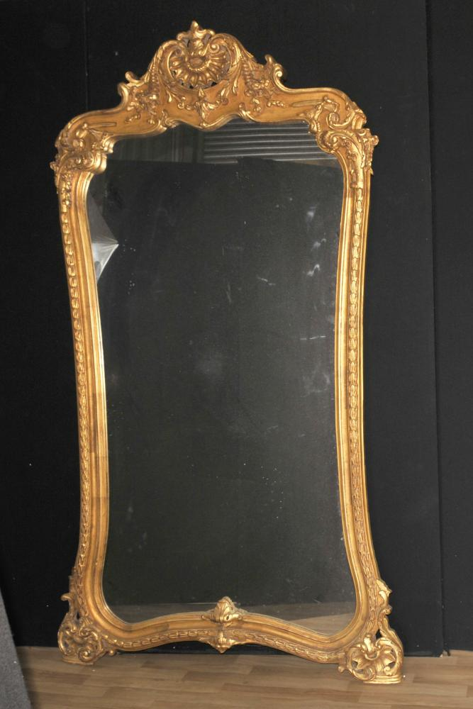 Große Französisch Louis XVI Vergoldete Pier Spiegel 7 Fuß