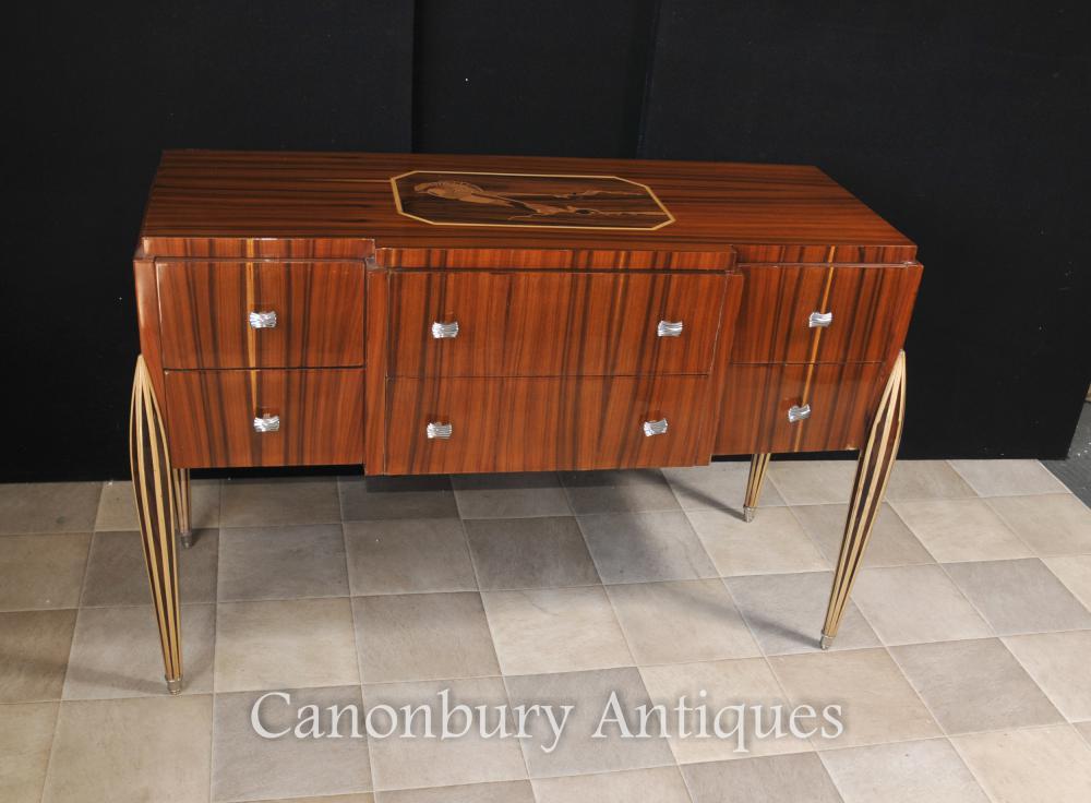Art Deco Kommode Cabinet Server Inlay