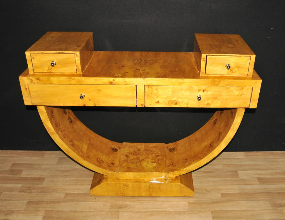 Art Deco Nussbaum Konsolentisch Vintage-Möbel Tische