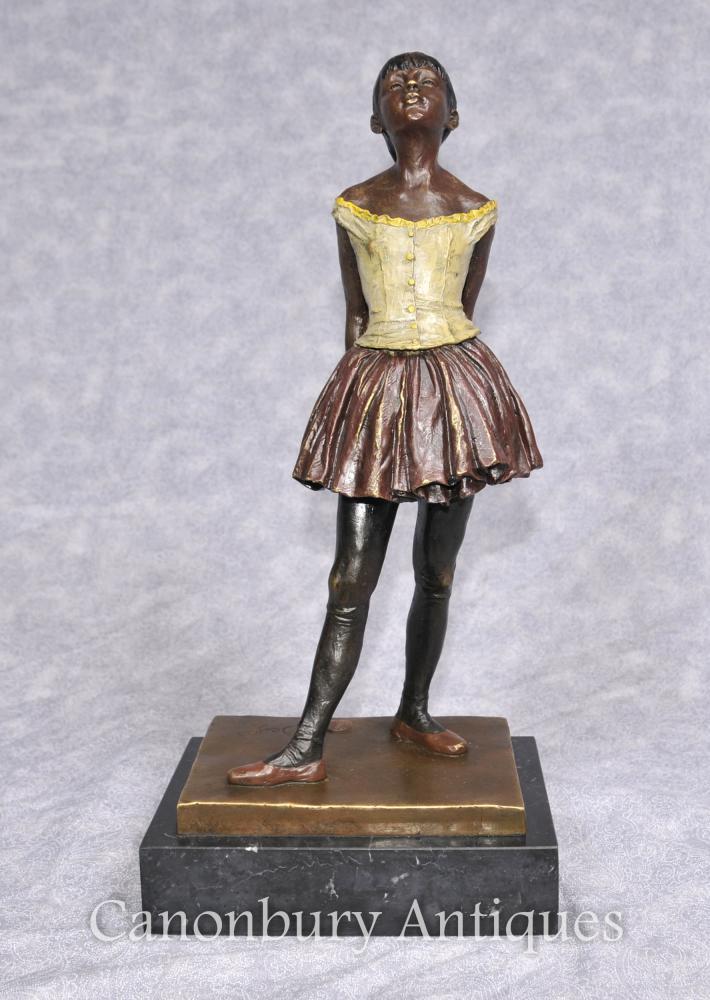 Französisch Bronze Degas Ballerina-Mädchen-Statue-Figürchen Balletttänzer