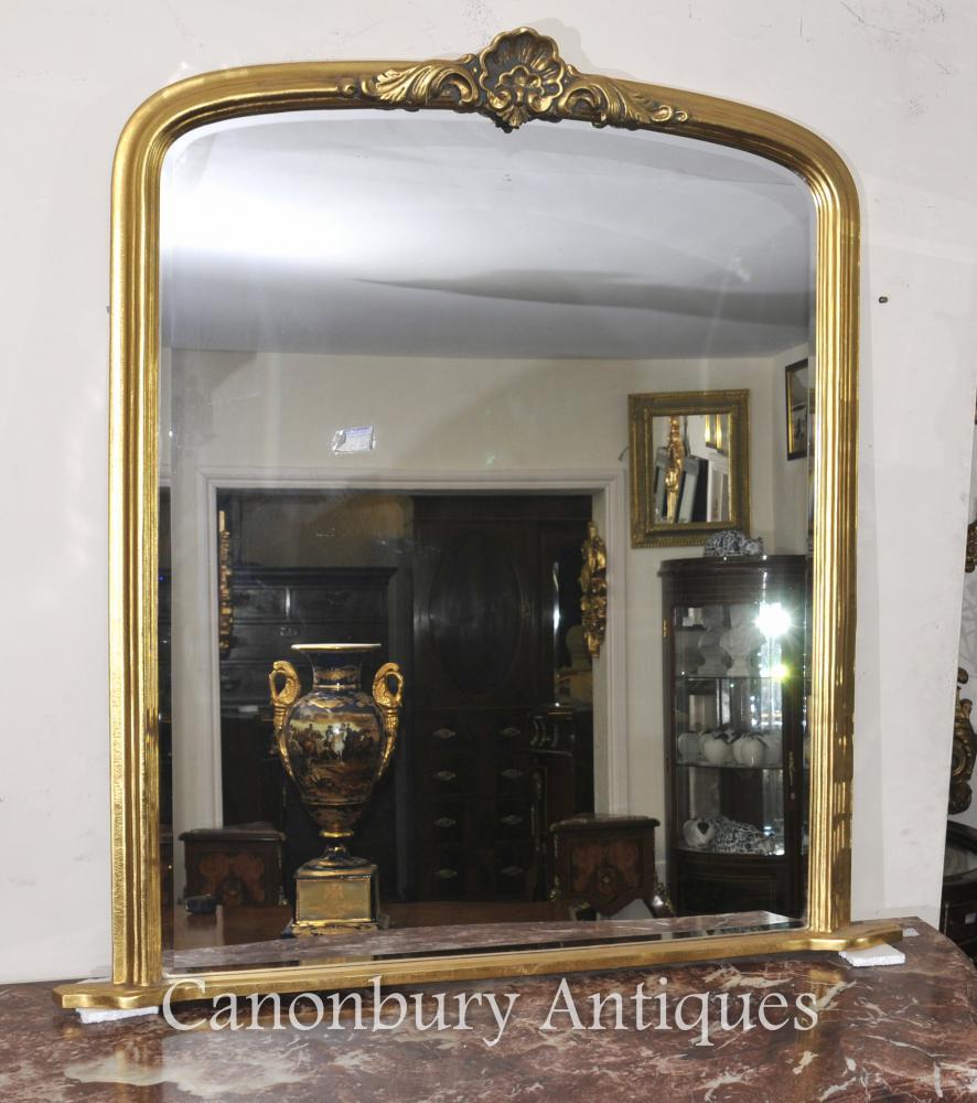 Französisch Jugendstil Gilts Mantle Spiegelglas Spiegel