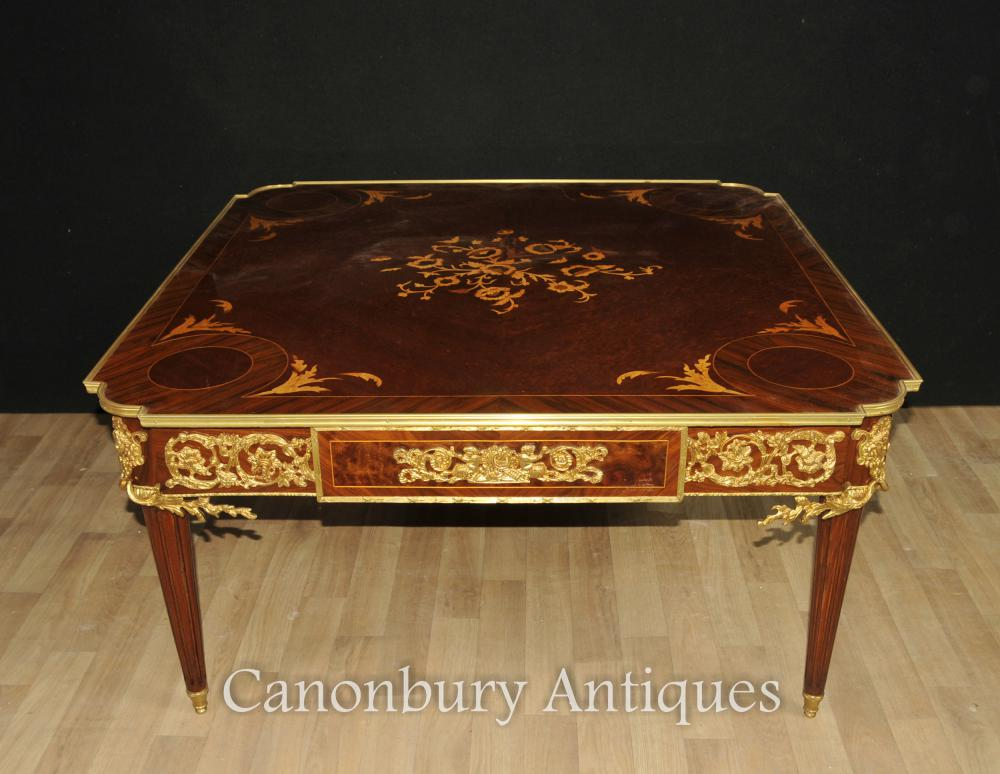 Französisch Reich Kingwood Couchtisch Intarsien Tische