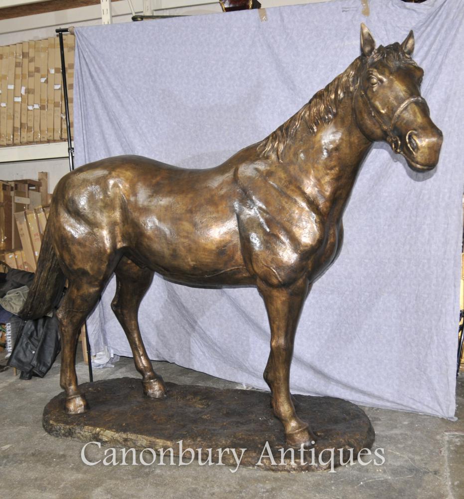 Lifesize Französisch Bronze Horse Statue Architectural Bronze Pferde Pony