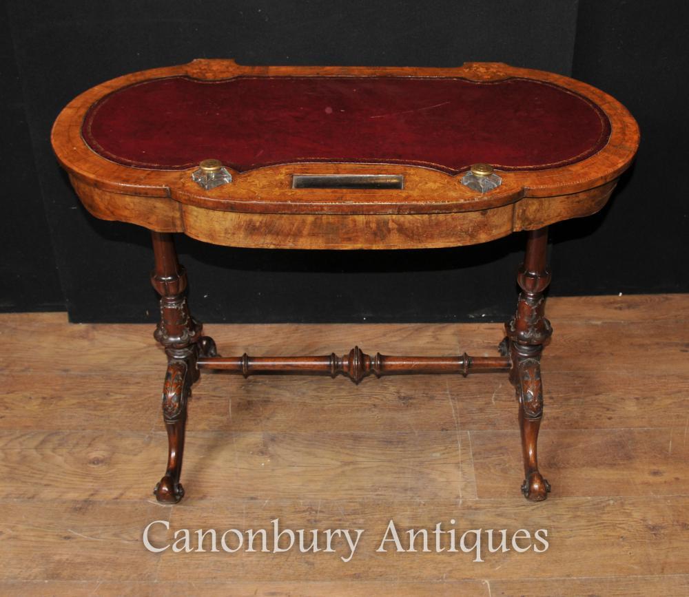 Antike Regency Schreibtisch Schreibtisch circa 1900 Walnut