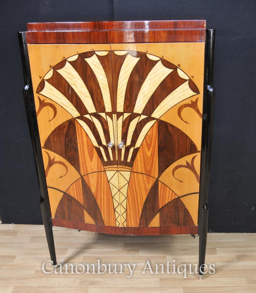 Art Deco Schrank Kommode Intarsien Möbel